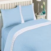 Katherine Lace Microfiber Sheet Set Blue