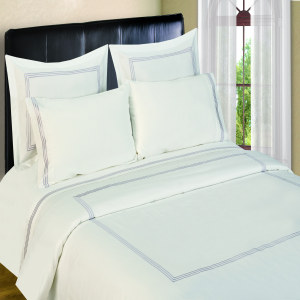 300 Thread Count Sheet Sets  3 line Merrow Embroidery -Platinum