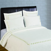300 Thread Count Scroll Embroidery Percale Sheet Set - Sage